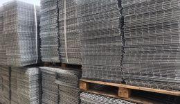 5x5 cm 4 mm wire dia hot dipped galvanized gabion baskets panels