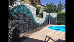 Декоративная корзина Gabion для производства стен и заборов