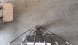 עמוד קיר גביון וייצור עמוד סל גבי